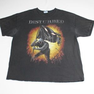Disturbed Heavy Metal Band 00s T-shirt Faded